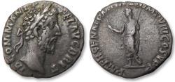 Ancient Coins - AR denarius Commodus, Rome mint 186-187 A.D. - PATER SENAT P M TR P XII IMP VIII COS V P P