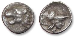Ancient Coins - AR hemiobol, struck in PAMPHYLIA. SIDE mint circa 400-300 B.C. - variety with lion left -