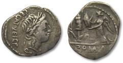 Ancient Coins - AR quinarius C. Egnatuleius C.f., Rome 97 B.C. -- large flan --