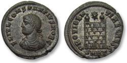 Ancient Coins - AE silvered follis Constantius II as Caesar, Heraclea 325-326 A.D. -- near mint state, stunning coin -
