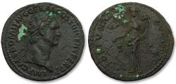 Ancient Coins - AE as Domitian / Domitianus, Rome 87 A.D. -- FORTVNAE AVGVSTI --