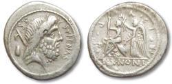 Ancient Coins - AR Denarius, M. Nonius Sufenas. Rome 59 B.C.