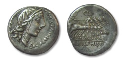 Ancient Coins - AR denarius C. Annius T.f. T.n. Luscus with L. Fabius L.f. Hispaniensis, North Italy/Spain  82-81 B.C.