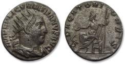 Ancient Coins - AR antoninianus Valerian I, Antioch mint 254-255 A.D. -- PACATORI ORBIS, scarcer coin --