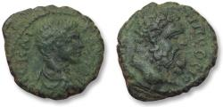 Ancient Coins - AE 17 (assarion) Caracalla, Moesia Inferior -- Nikopolis ad Istrum 198-217 A.D. -double portrait-