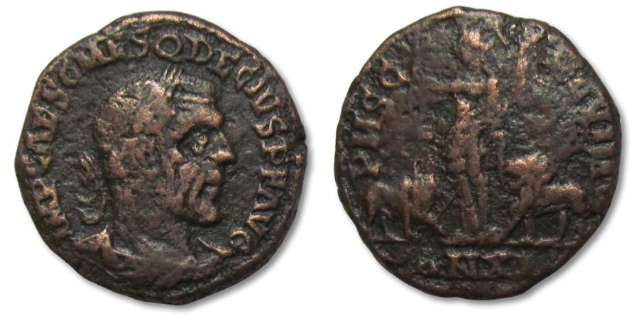 Ancient Coins - MO: AE28 Trajan Decius, Moesia, Viminacium 249-250 A.D. --AN XI, scarcer type--