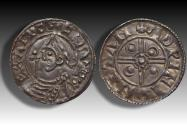 World Coins - Pointed Helmet type AR penny Cnut the Great - STAMFORD mint 1024-1030 A.D. - moneyer ÆDPINE