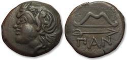Ancient Coins - AE 20mm Cimmerian Bosporos, Pantikapaion 304-250 B.C.