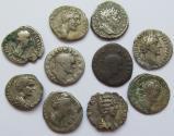 Ancient Coins - Lot of 10x AR denarii of the Roman Empire -- various emperors & empresses --
