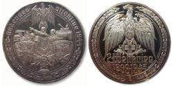 World Coins - 50mm Silver medal WW2: the Battle of the Bulge, Ardennes dec. 1944 - jan. 1945