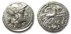 Ancient Coins - AR denarius M. Marcius Mn.f., Rome 134 B.C.