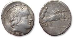 Ancient Coins - AR denarius anonymous issue. Rome 86 B.C.