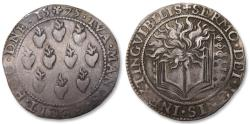 World Coins - Spanish Netherlands AR jeton Dordrecht mint 1575: on the prohibition of Catholic worship by the States of Holland