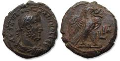 Ancient Coins - Billon Tetradrachm Gallienus, Egypt, Alexandria, dated RY 11 (AD 263-264) - Eagle standing right w open wings - beautiful portrait