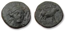 Ancient Coins - IONIA, 11mm AE unit, struck under magistrate KYSNAX. KLAZOMENAI mint circa 375-340 B.C. - rare coin, Ex Peus (with ticket) -