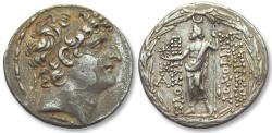 Ancient Coins - AR tetradrachm Seleucid Kingdom, Antiochos/Antiochus VIII Grypos, Antioch 121-113 B.C.