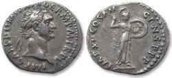 Ancient Coins - AR denarius Domitian / Domitianus, Rome 86 A.D. - IMP XII COS XII CENS P P P -
