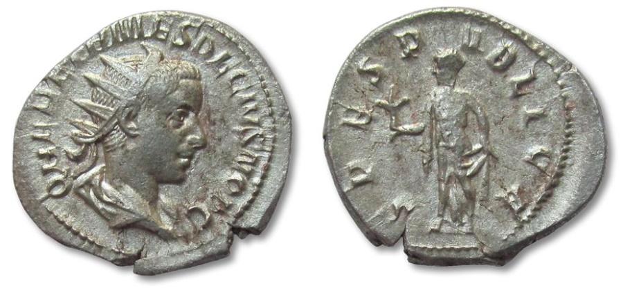 Ancient Coins - HS: Herennius Etruscus as Caesar, Rome 250-251 A.D.