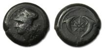 Ancient Coins - AE drachm Sicily, Syracuse, Dionysios I. 405-367 B.C. - after 395 B.C.-