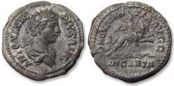 Ancient Coins - AR denarius, Caracalla, Rome mint 201-206 A.D. - INDVLGENTIA AVGG, Dea Celestis riding on lion -