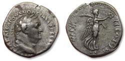 Ancient Coins - Cappadoccia. AR 21mm didrachm, Vespasian / Vespasianus, Caesaraea-Eusebia mint 76-77 A.D. - Nike advancing right -