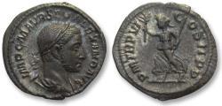 Ancient Coins - AR denarius Severus Alexander, Rome 227 A.D. -- find patina, Ex E.E. Clain-Stefanelli --