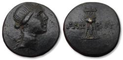 Ancient Coins - PONTUS, 21mm AE unit. AMISOS mint circa 125-100 B.C. - great condition, Ex CGB (with ticket) -