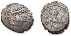 Ancient Coins - AR Denarius, A. Licinius Nerva, Rome 47 B.C. - scarcer coin -