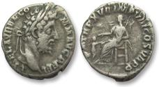 Ancient Coins - AR denarius Commodus, Rome 191-192 A.D. -- Pietas seated, child before --