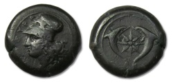 Ancient Coins - AE drachm Sicily, Syracuse, Dionysios I. 405-367 B.C. - after 395 B.C.-