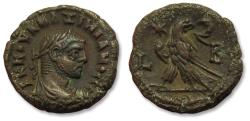 Ancient Coins - Billon 20mm Tetradrachm Maximianus Herculius, Egypt, Alexandria, dated RY 2 = 286-387 A.D. - Eagle standing left, head right