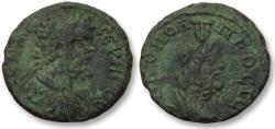 Ancient Coins - AE 16 (assarion) Septimius Severus, Moesia Inferior - Nikopolis ad Istrum 193-211 A.D. - Serapis -