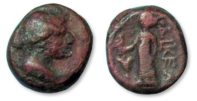 Ancient Coins - MO: AE14 Laodikeia, Phrygia circa 189-133 B.C. --SCARCE--