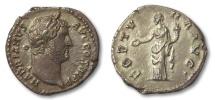 Ancient Coins - AR denarius Hadrian / Hadrianus, Rome 134-138 A.D. --FORTUNA--