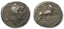 Ancient Coins - HS: AR denarius L. Thorius Balbus, Rome 105 B.C.