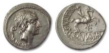 Ancient Coins - AR denarius L. Marcius Philippus, Rome 56 B.C.