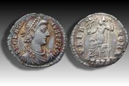 AR Siliqua Gratian / Gratianus. Treveri (Trier) mint 375-378 A.D. - TRPS (2nd or 6th officina) exquisite irridescent toning -