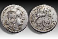 Ancient Coins - AR denarius M. Marcius, Rome 134 B.C. - nearly as minted, high quality -