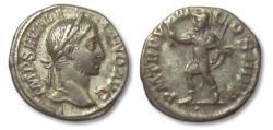 Ancient Coins - AR denarius Severus Alexander, Rome 229 A.D. --MARS walking left--