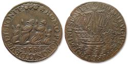 World Coins - AE Jeton 1588 Spanish Netherlands: the defeat of the Spanish Armada