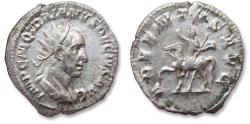 Ancient Coins - AR antoninianus Trajan Decius. Rome mint 249-251 A.D. - ADVENTVS AVG -