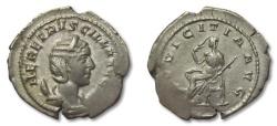 Ancient Coins - HS: AR antoninianus Herennia Etruscilla, Rome 250 A.D. --PVDICITIA--