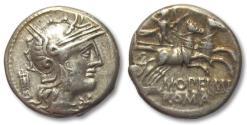 Ancient Coins - AR Denarius, L. Opimius / Opeimius, Rome 131 B.C.