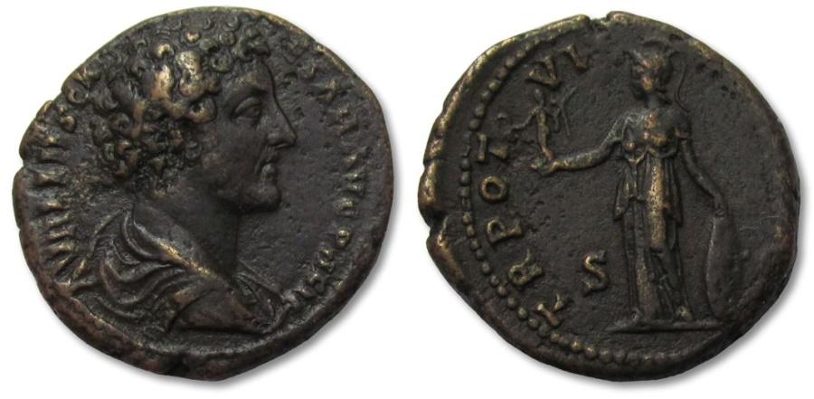 Ancient Coins - AE As Marcus Aurelius as Caesar, Rome 151-152 A.D.