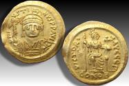AV gold Solidus Justinus II / Justin II, Constantinople 565-578 A.D. - CONOB, officina Γ -