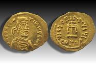 AV gold tremissis Constantine IV Pogonatus (The Bearded). Constantinople mint 669-674 A.D.