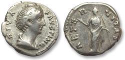 Ancient Coins - AR denarius Faustina Senior, Rome after 141 A.D. - AETERNITAS -
