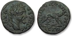 Ancient Coins - AE 17 (assarion) Septimius Severus, Moesia Inferior - Nikopolis ad Istrum 193-211 A.D -She-wolf-