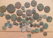 Ancient Coins - Mixed lot of approx. 50 coins: Byzantine, islamic, crusader etc.