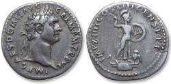 Ancient Coins - AR denarius Domitian / Domitianus, Rome 87 A.D. - IMP XIIII COS XIII CENS P P P -
